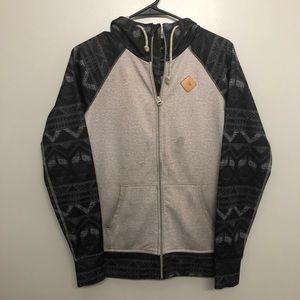Burton dryride hoodie tan and Aztec black small